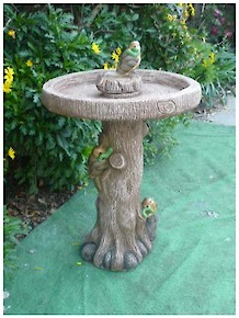 #301-Three Birds Bird Bath
