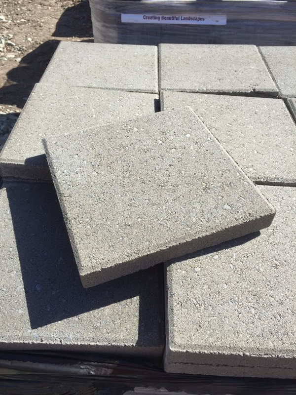 Patio Stepping Stones 12 Square Grey Bee Green