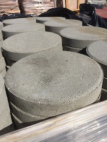 "Patio ""Stepping Stones"" - 12"" Round Pewter"