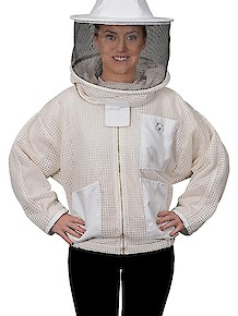 Humble Bee 320-Aerated Beekeeping Jacket w/Round Veil