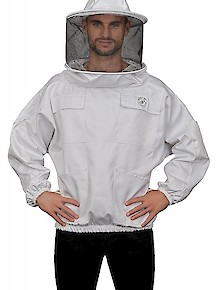 Humble Bee 510-Polycotton Beekeeping Smock w/Round Veil