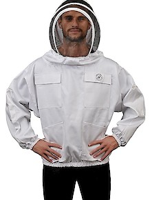 Humble Bee 511-Polycotton Beekeeping Smock w/Fencing Veil