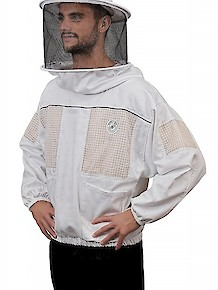 Humble Bee 530-Ventilated Beekeeping Smock w/Round Veil