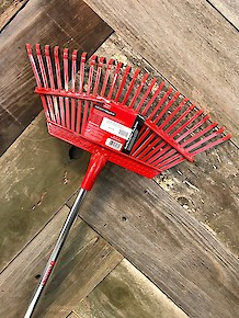 Leaf Rake-Flexible Fixed Tine 19""