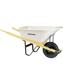 Wheelbarrow - 6 cubic feet Poly w/wood
