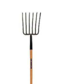 6-Tine Forged Manure Fork