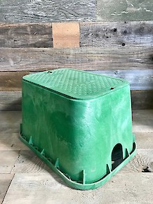 Valve Box with Bolt Down Green T-Cover