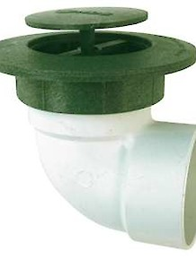 Spring Loaded Pop-Up Drain with 90 Degree Elbow