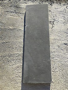 "Black Limestone - 2"" Handcut Slab 14"" x 48"""