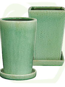 Tall Pot Crackle Celadon