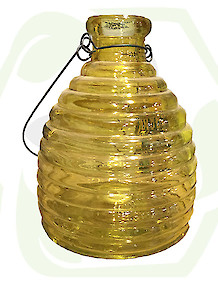 Glass Wasp Trap - Yellow