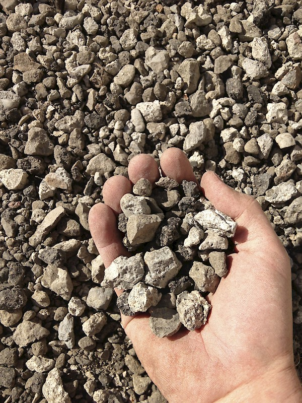 Crushed Base Rock In Hand