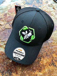 Bee Green Hat - Black